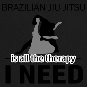 Brazilian Jiu-Jitsu is my therapy - Men's V-Neck T-Shirt by Canvas