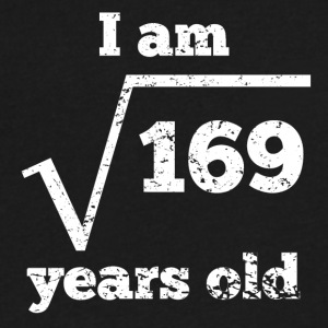 13th Birthday Square Root - Men's V-Neck T-Shirt by Canvas