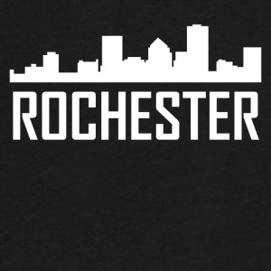 Rochester New York City Skyline - Men's V-Neck T-Shirt by Canvas
