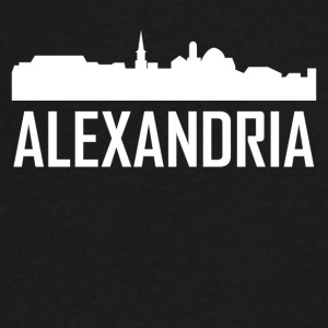 Alexandria Virginia City Skyline - Men's V-Neck T-Shirt by Canvas