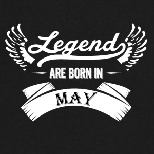 Legends are born in May - Men's V-Neck T-Shirt by Canvas
