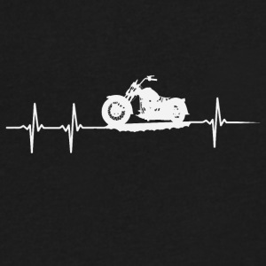 make a heartbeat design for Motorbike - Men's V-Neck T-Shirt by Canvas