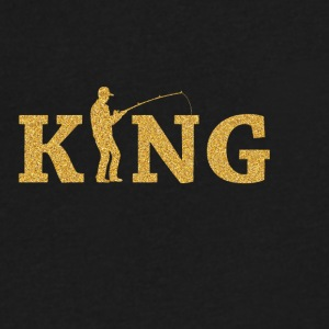 Fishing King - Men's V-Neck T-Shirt by Canvas