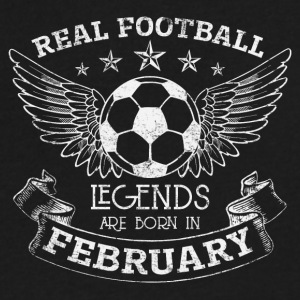 REAL FOOTBALL LEGENDS BORN IN FEBRUARY - Men's V-Neck T-Shirt by Canvas