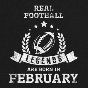 REAL FOOTBALL LEGENDS ARE BORN IN FEBRUARY - Men's V-Neck T-Shirt by Canvas
