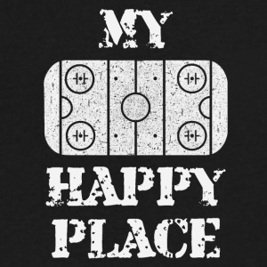my happy place - Men's V-Neck T-Shirt by Canvas