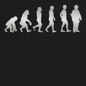 It s Just Evolution Soldier - Men's V-Neck T-Shirt by Canvas