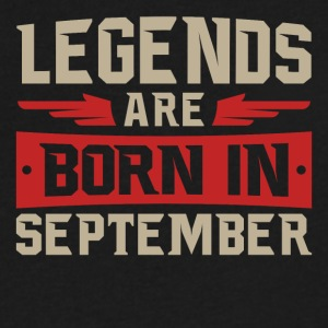 Legends Are Born September - Men's V-Neck T-Shirt by Canvas