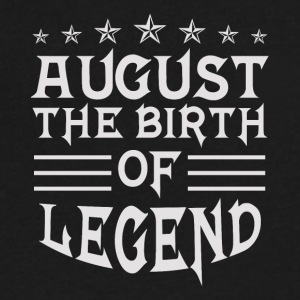 August The Birth of Legend - Men's V-Neck T-Shirt by Canvas