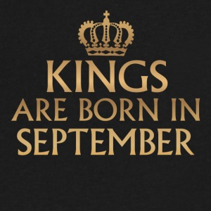 Kings are Born in September - Men's V-Neck T-Shirt by Canvas