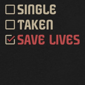 Single Taken Save lives - Men's V-Neck T-Shirt by Canvas