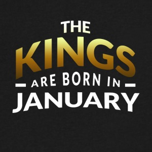 Kings are born in January - Men's V-Neck T-Shirt by Canvas