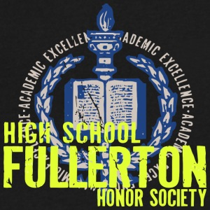 ACADEMIC EXCELLENCE HIGH SCHOOL FULLERTON HONOR SO - Men's V-Neck T-Shirt by Canvas