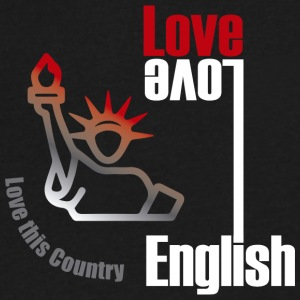 Love English, love USA - Men's V-Neck T-Shirt by Canvas