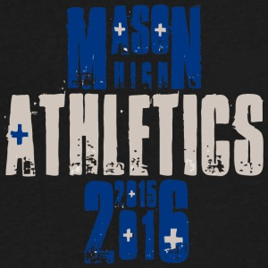 MASON HIGH ATHLETICS 2015 2016 - Men's V-Neck T-Shirt by Canvas