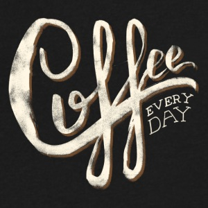 Coffee everyday - Men's V-Neck T-Shirt by Canvas