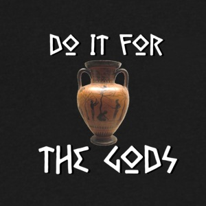 Do It For The Gods - Men's V-Neck T-Shirt by Canvas