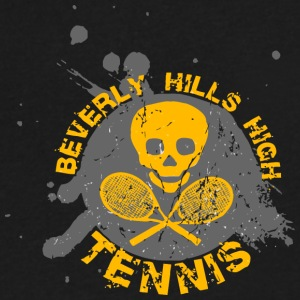 BEVERLY HILLS HIGH TENNIS - Men's V-Neck T-Shirt by Canvas
