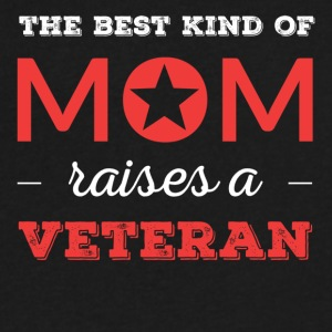 Mom of a Veteran - Best Mom Raises A Veteran - Men's V-Neck T-Shirt by Canvas