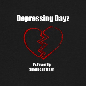 Depressing Dayz - Men's V-Neck T-Shirt by Canvas