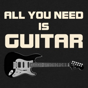 Need guitar white color - Men's V-Neck T-Shirt by Canvas