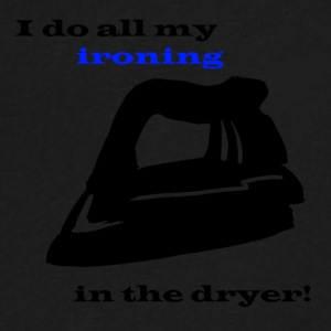 Ironing in the Dryer - Men's V-Neck T-Shirt by Canvas