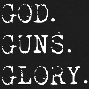 God Guns Glory - Men's V-Neck T-Shirt by Canvas