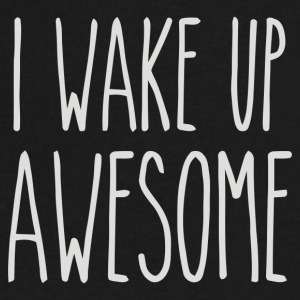 I Wake Up Awesome - Men's V-Neck T-Shirt by Canvas