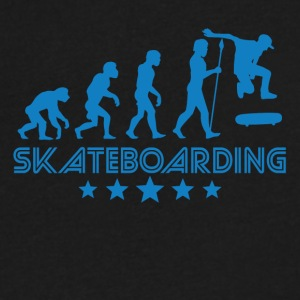 Retro Skateboarding Evolution - Men's V-Neck T-Shirt by Canvas
