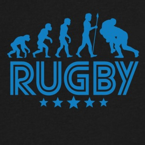 Retro Rugby Evolution - Men's V-Neck T-Shirt by Canvas