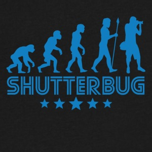 Retro Shutterbug Evolution - Men's V-Neck T-Shirt by Canvas