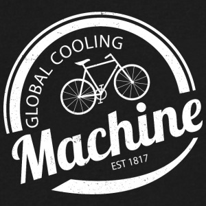Global Cooling Machine - Men's V-Neck T-Shirt by Canvas
