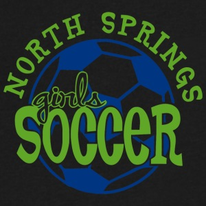 North Springs Girls Soccer - Men's V-Neck T-Shirt by Canvas