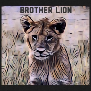 Brother Lion - Men's V-Neck T-Shirt by Canvas