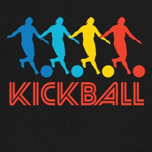 Retro Kickball Pop Art - Men's V-Neck T-Shirt by Canvas