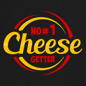 NO 1 CHEESE GETTER - Men's V-Neck T-Shirt by Canvas