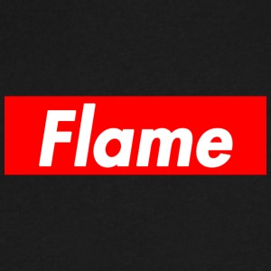 Hype Flame - Men's V-Neck T-Shirt by Canvas