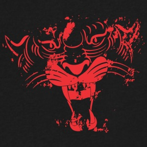 Red TIGER FACE - Men's V-Neck T-Shirt by Canvas