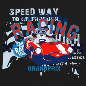 FAST_RIDER_RACING - Men's V-Neck T-Shirt by Canvas