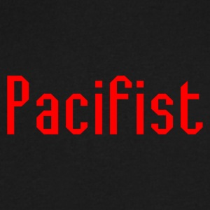 Pacifist T-Shirt Design - Men's V-Neck T-Shirt by Canvas