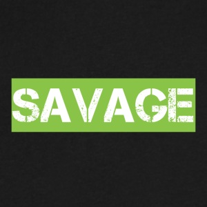 SAVAGE - Men's V-Neck T-Shirt by Canvas