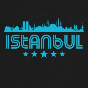 Retro Istanbul Skyline - Men's V-Neck T-Shirt by Canvas