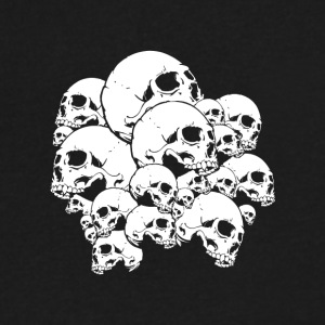 Many skulls - Men's V-Neck T-Shirt by Canvas