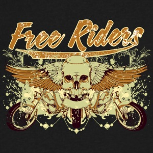 free_riders - Men's V-Neck T-Shirt by Canvas