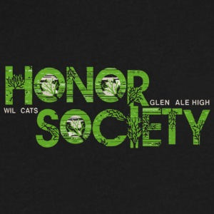 Honor Society Glendale High Wildcats - Men's V-Neck T-Shirt by Canvas