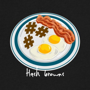 Hashtag Breakfast - Men's V-Neck T-Shirt by Canvas