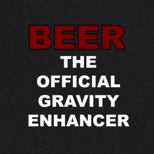 BEER Gravity Enhancer - Men's V-Neck T-Shirt by Canvas