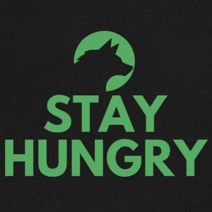 Stay hungry Project Wolfpack - Men's V-Neck T-Shirt by Canvas