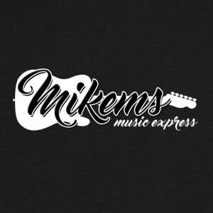 Mikems Music Express Logo - Men's V-Neck T-Shirt by Canvas