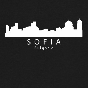 Sofia Bulgaria Skyline - Men's V-Neck T-Shirt by Canvas